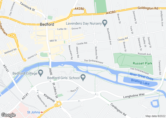 Map for 12 Broad Reach, The Embankment, Bedford, MK40 3BP