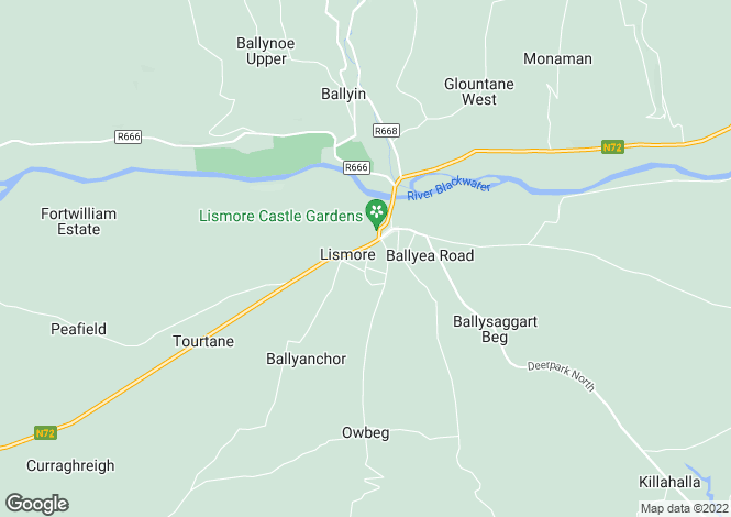 Map for Ballynaraha, Lismore, Waterford