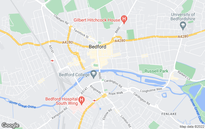 Map for Fry Estate Agents, Bedford