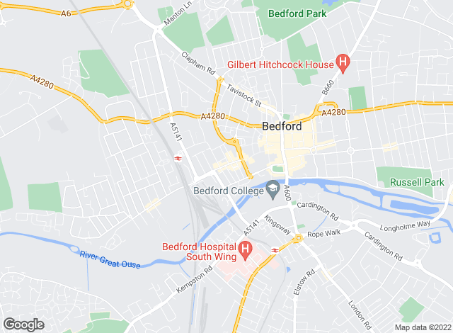 Map for Best Move Properties , Bedford