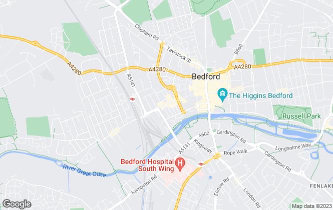 Map for Smartmove , Bedford
