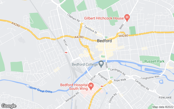 Map for Homelink Property Services, Bedford
