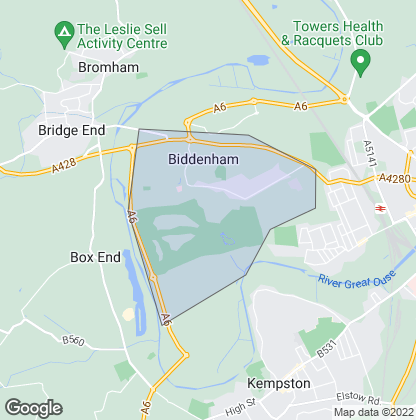 Map of property in Biddenham