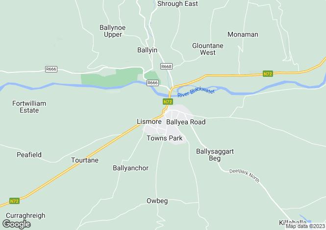 Map for Monalour,Lismore