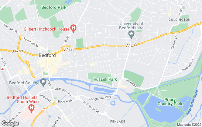 Map for Hollands Smith, Bedford - Lettings