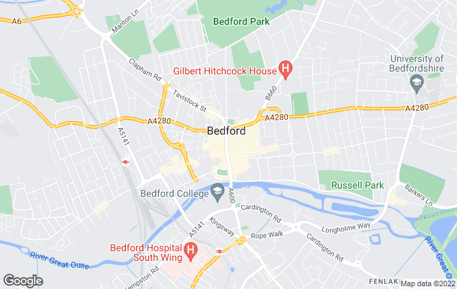 Map for Lenwell Limited, Bedford