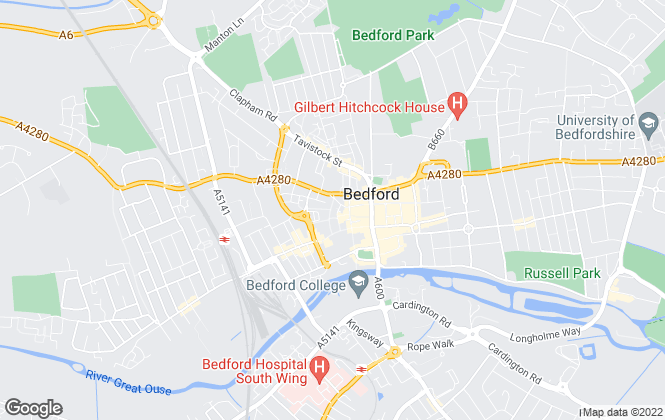 Map for William H. Brown, Bedford