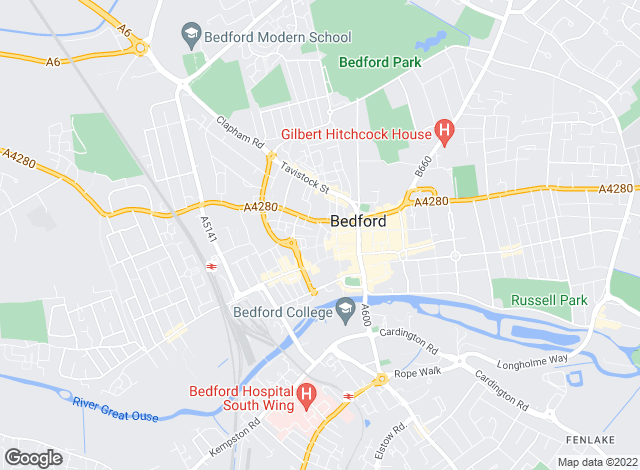Map for Harrison Murray, Bedford