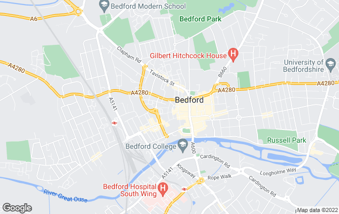 Map for Taylors Estate Agents, Bedford