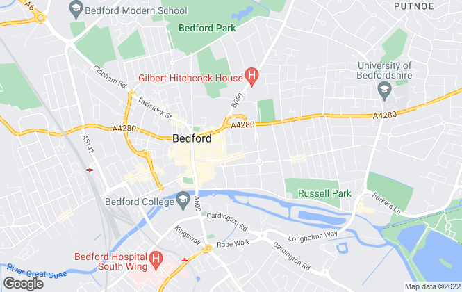 Map for Giles Cardwell Residential Lettings, Bedford