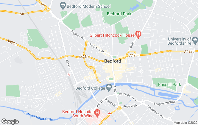 Map for Wilson Peacock Residential Lettings, Bedford
