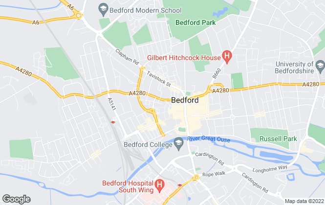 Map for Wilson Peacock, Bedford