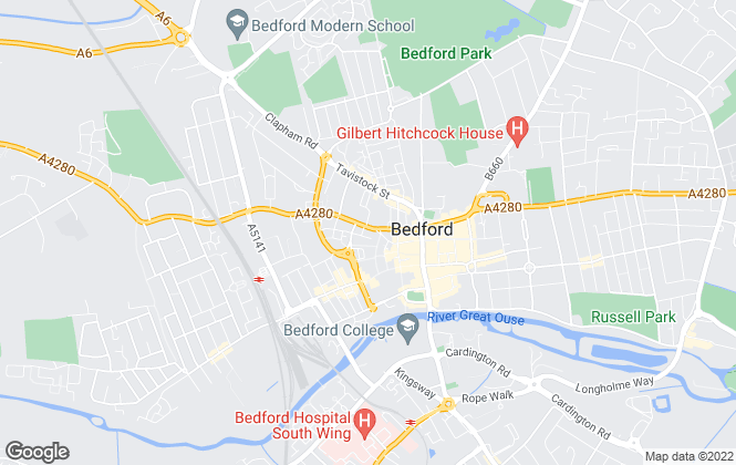 Map for Lane & Holmes, Bedford