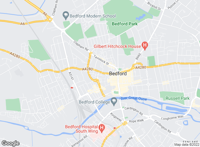 Map for Absolute Estate & Letting Agents, Bedford