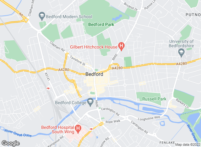 Map for Michael Graham, Bedford