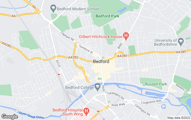 Map for Gateway Estates, Bedford