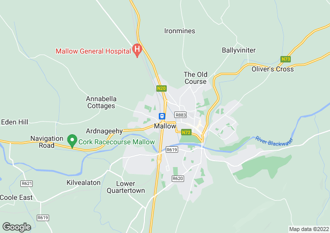 Map for Kilmaclenine, Ballyclough, Mallow, Cork
