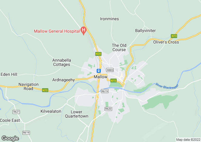 Map for Rosnagussna, Ballyclough, Mallow, Cork