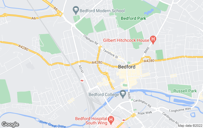 Map for Wallace Property Management , Bedford