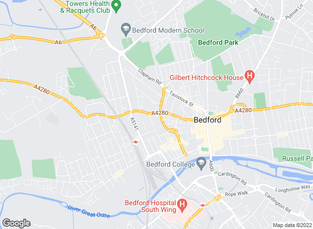 Map for Urban & Rural Property Services, Bedford