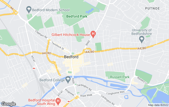 Map for Jayne Beard, Bedford