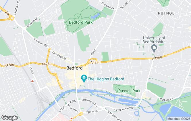 Map for Kirkby Diamond, Bedford