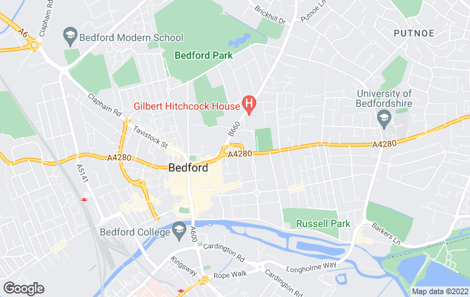 Map for Kirkby Diamond, Bedford