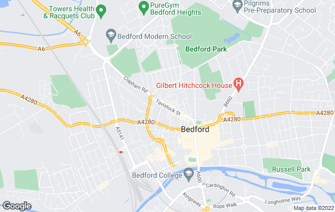 Map for Belvoir Sales, Bedford