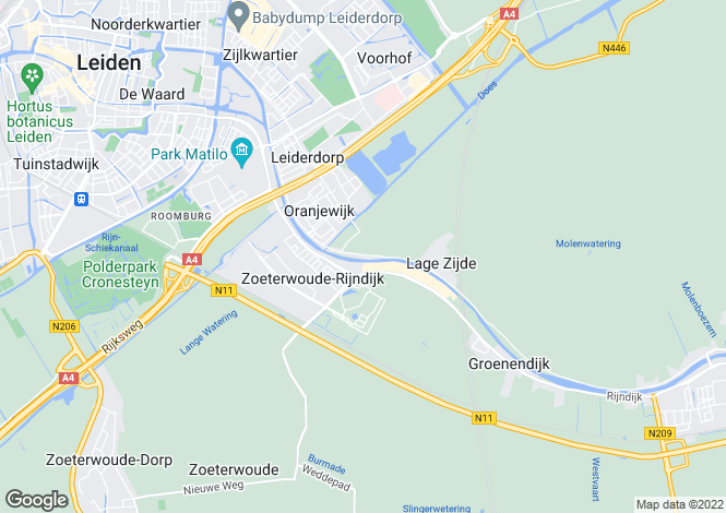 Map for Zuid-Holland, Leiderdorp