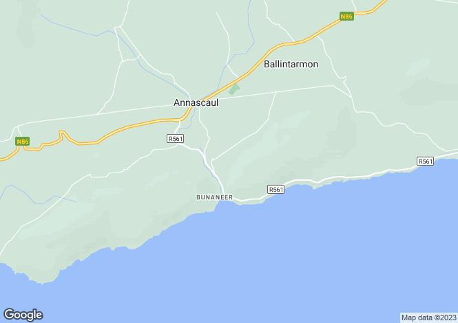 Map for Meelin, Annascaul, Co.Kerry