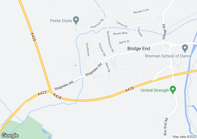 Map for Stagsden Road, Bromham