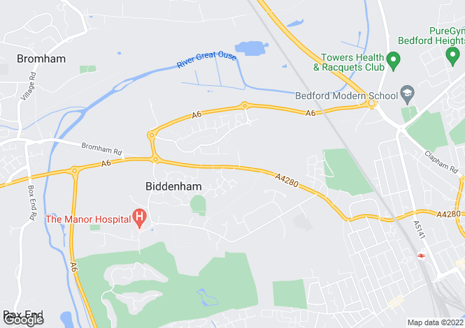 Map for Bromham Road, Biddenham, Bedfordshire, MK40
