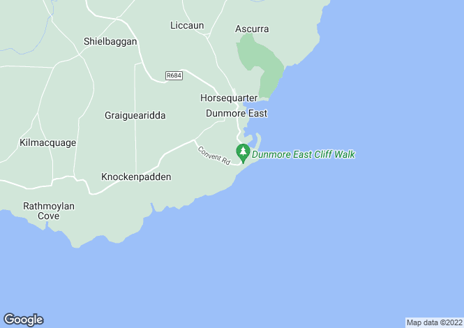 Map for Coxtown, Dunmore East, Waterford