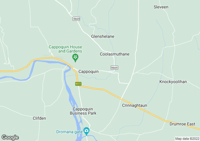 Map for Melleray Road, Cappoquin, Waterford
