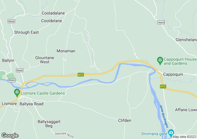 Map for Glenribbeen Lodge, Lismore, Waterford