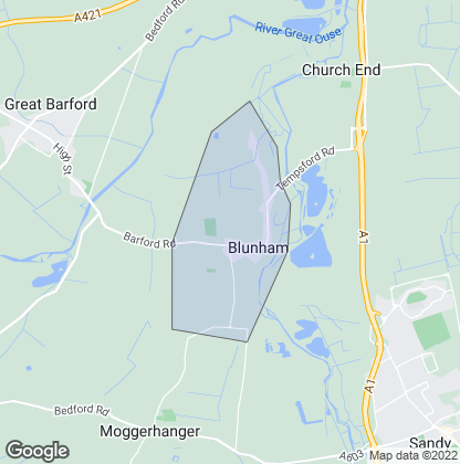 Map of property in Blunham
