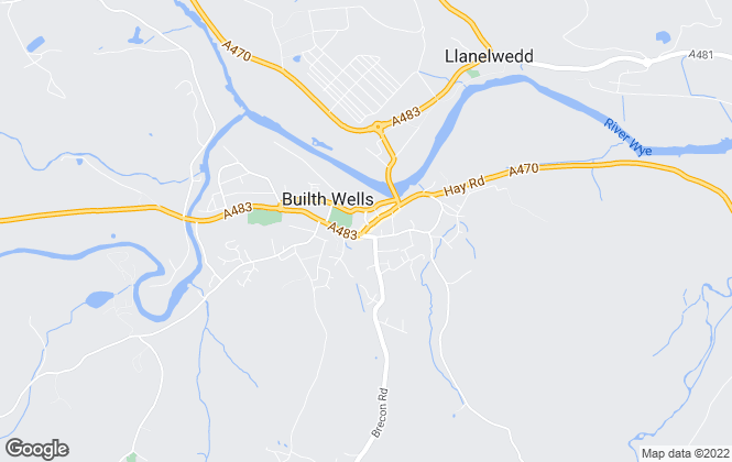 Map for James.Dean, Builth Wells