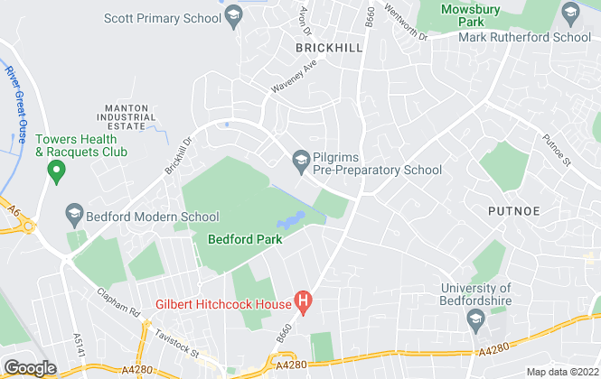 Map for Giggs & Hone, Bedford