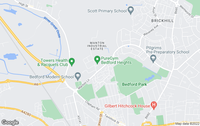 Map for rentanyproperty.co.uk, Bedfordshire