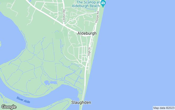 Map for Bedfords, Aldeburgh