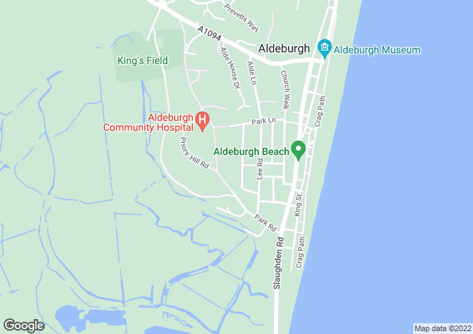 Map for Crescent Road, Aldeburgh, Suffolk