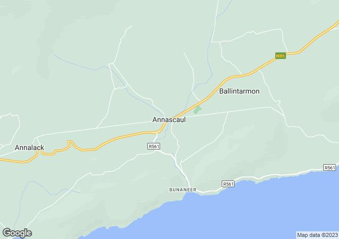Map for Ballycullane, Inch, Annascaul, Co.Kerry