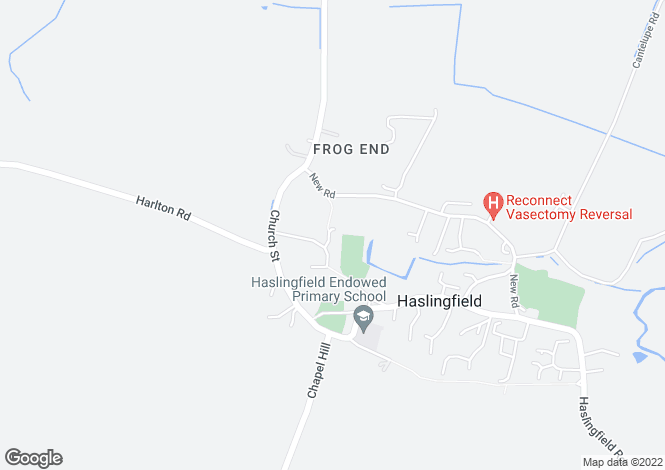 Map for Dodds Mead, Haslingfield, Cambridge