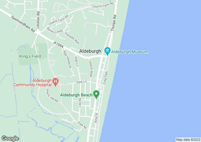 Map for Aldeburgh