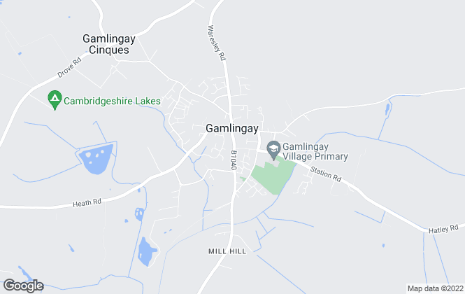 Map for Lane & Chandler, Gamlingay