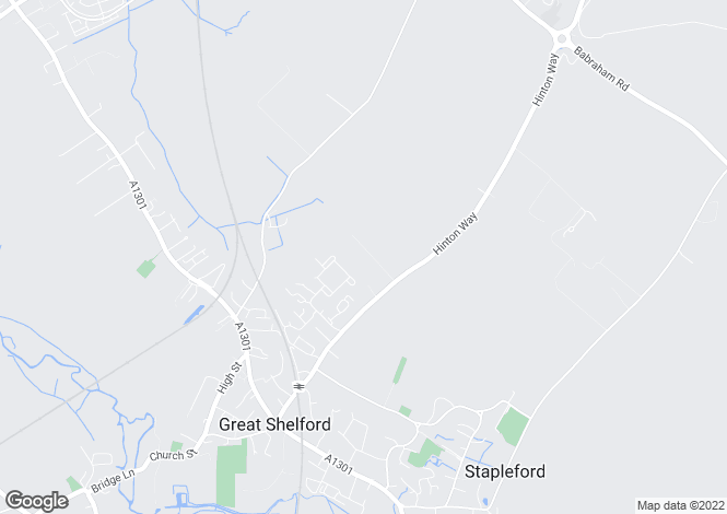 Map for Great Shelford, Cambridge