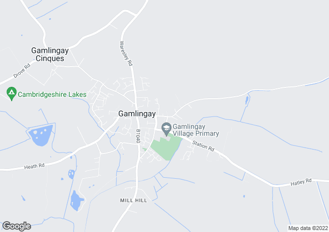 Map for GAMLINGAY, Cambridgeshire