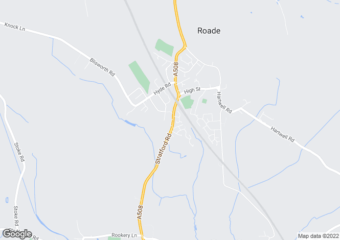 Map for Roade, Roade, Northamptonshire