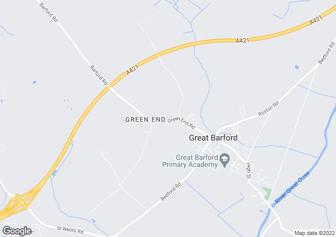 Map for Green End Road, Great Barford, Bedford, Bedfordshire
