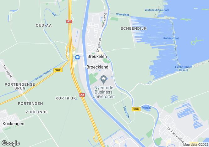 Map for Utrecht, Breukelen